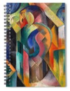Stables By Franz Marc Bright Painting Of Horses In A Stable Spiral Notebook