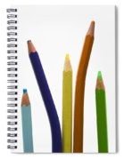 Stack Of Colored Pencils Spiral Notebook