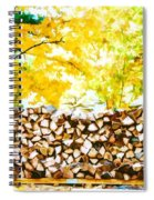 Stack Of Firewood Spiral Notebook