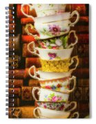 Stacked High Tea Cups Spiral Notebook