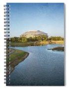 Stadium And Park Panorama Bleach Bypass Spiral Notebook
