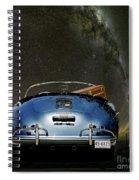 Star Gazing,1955 Porsche 356a 1600 Speedster, Under The Milky Way Spiral Notebook