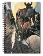 Stagecoach Robbers Spiral Notebook