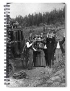 Stagecoach Robbery, 1911 Spiral Notebook