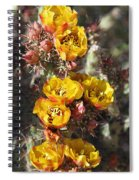 Staghorn Cholla Blossoms Spiral Notebook