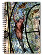 Stain Glass Set 3 - Bath House - Hot Springs, Ar Spiral Notebook
