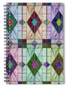 Stained Glass Abstract Spiral Notebook