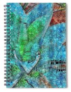 Stained Glass Agave Two  Spiral Notebook
