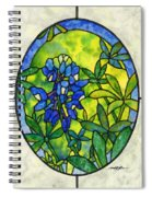 Stained Glass Bluebonnet Spiral Notebook