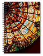 Stained Glass Ceiling Spiral Notebook
