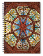 Stained Glass Ceiling Window Spiral Notebook
