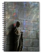 Stained Glass Illuminates Christ Spiral Notebook