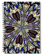 Stained Glass Kaleidoscope 38 Spiral Notebook