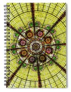 Stained Glass Kaleidoscope Spiral Notebook