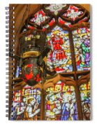 Stained Glass Lantern And Window Spiral Notebook