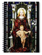 Stained Glass Of Virgin Mary Spiral Notebook
