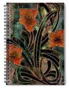 Stained Glass Parabolas Spiral Notebook