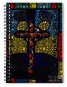 Stained Glass Reworked Spiral Notebook
