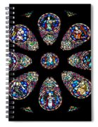 Stained Glass Rose Window In Lisbon Cathedral Spiral Notebook