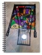 Stained Glass Sofa Table Spiral Notebook
