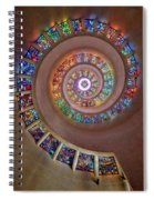 Stained Glass Spiral Spiral Notebook