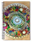 Stained Glass Table Top Spiral Notebook