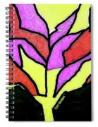 Tree - Stained Glass Watercolor Spiral Notebook