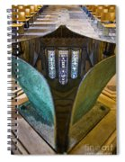 Stained Glass-window Reflection Spiral Notebook
