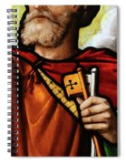 Stained Glass Window, St Peter Spiral Notebook