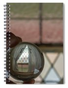 Stained Glass Window With Curtains In Crystal Ball Spiral Notebook