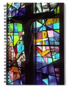 Stained Glass With Crucifix Silhouette Spiral Notebook