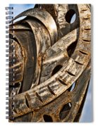 Stainless Abstract Spiral Notebook