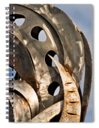 Stainless Abstract II Spiral Notebook