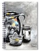 Stainless Steel Still Life Painting Spiral Notebook
