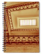 Staircase In Brown Spiral Notebook