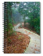 Stairs Down Mountain Spiral Notebook