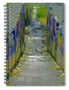 Stairs With Painted Rocks Spiral Notebook