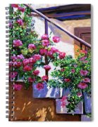 Stairway Floral Plein Air Spiral Notebook