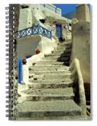Stairway In Santorini Spiral Notebook