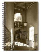 Stairway - In Sepia Spiral Notebook