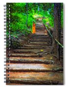 Stairway To Heaven Impasto Spiral Notebook