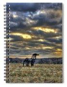 Stairways To Heaven Winter Sunrise The Iron Horse Art Spiral Notebook