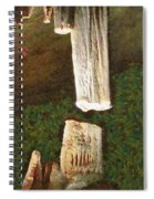 Stalacites And Stalagmites In A Cave Spiral Notebook
