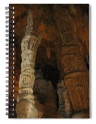Stalacmites In Luray Caverns Va  Spiral Notebook