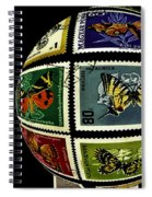 Butterfly Postage Stamp Art Print Spiral Notebook
