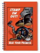 Stamp Em Out - Beat Your Promise Spiral Notebook