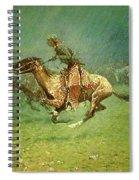Stampede By Lightning, Digitally Enhanced, Frederic Remington Spiral Notebook