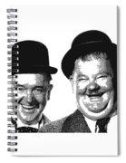 Stan And Ollie - Parallel Hatching Spiral Notebook