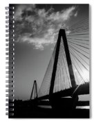 Stan Musial Bridge St Louis Mo Black And White_dsc4591_16_65 Spiral Notebook
