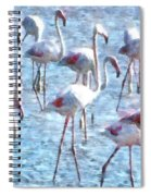 Stand Out In The Crowd Flamingo Watercolor Spiral Notebook